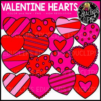 Valentine Hearts Clip Art Bundle {Educlips Clipart}