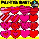 Valentine Hearts Clip Art Set {Educlips Clipart}