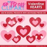 Valentine Hearts Clip Art (Digital Use Ok!)