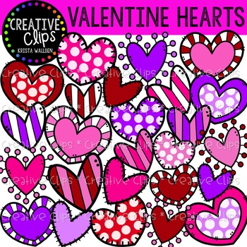 Valentine Hearts Clipart {Creative Clips Clipart}