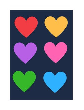 Valentine Hearts Color Matching Game