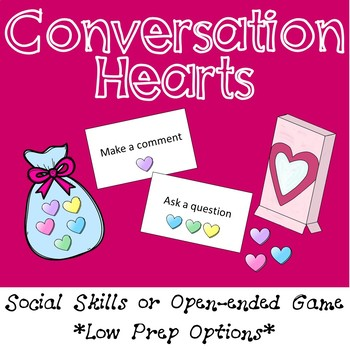 Valentine's Day FREE Conversation or Open Ended Game - Low Prep Options!