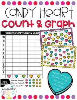 Valentine Hearts Count & Graph 1-10