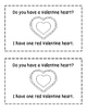 Valentine Hearts Emergent Reader
