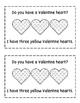 Valentine Hearts Emergent Reader