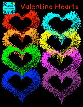 Valentine Hearts Clipart FREEBIE!