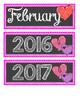 Valentine Hearts February Calendar Cards