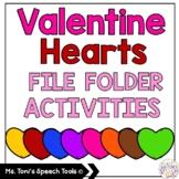 Valentine Hearts File Folder