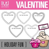 "Valentine Hearts- ""I Love Your Class Because..."" Freebie"