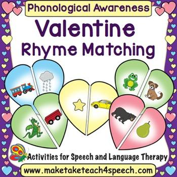 Valentine Hearts Match- Rhyme