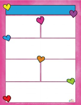 Valentine Hearts Newsletter for Word