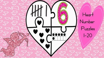 Valentine Hearts Number Puzzles