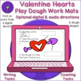 Valentine Hearts Play Dough Work Mats