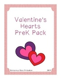 Valentine Hearts PreK Printable Thematic Learning Pack