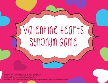 Valentine Hearts Synonym Game