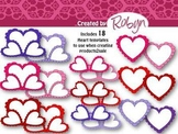 Valentine Hearts Template Pack [Graphics for TpT] Commercial Use