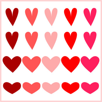 Valentine Hearts and Arrows Clipart