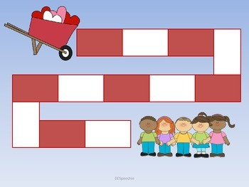 Valentine Hearts and Candy Kisses - Articulation and Language Activities