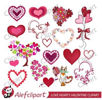 Valentine Hearts clipart  vector graphics