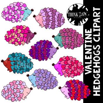 Valentine Hedgehog Clipart