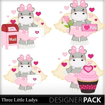 Valentine Hippo Girls