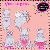 Valentine Hippos Clip Art