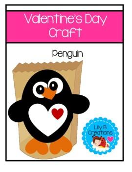 Valentine Holder - Baby Penguin