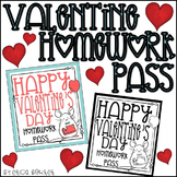 Valentine Homework Pass FREEBIE