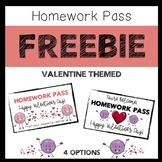 Valentine Homework Pass- FREEBIE
