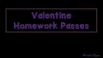 Valentine Homework Passes