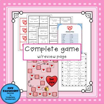 Valentine Homographs: Bee Mine activities, worksheets, and games