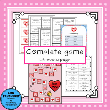 Valentine Homophone activities, worksheets, and games