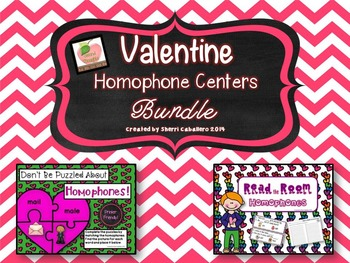 Valentine Homophone Literacy Centers