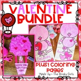Valentine Hot Air Balloon Craft and Love Bird Treat Bags BUNDLE