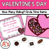 Valentine How Many Hiding? Circle Time Game