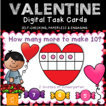 Valentine How Many More to Make 10 Power Point Game w/digital BOOM cards