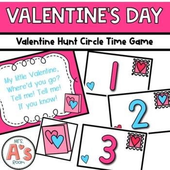 Valentine Hunt Circle Time Game **FREEBIE**