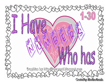 Valentine- I Have/Who Has Numbers