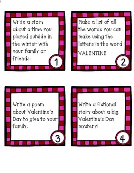 "Valentine ""I'm Done"" Task Cards"
