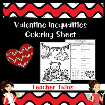 Valentine Inequalities Coloring Sheet