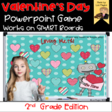 Valentine Interactive Powerpoint Math Game- Second Grade Edition