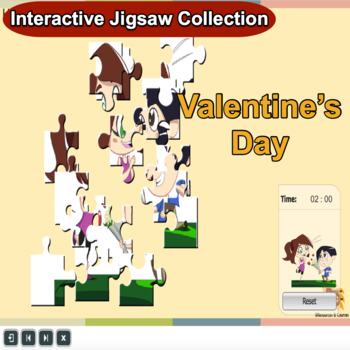 Valentine Jigsaw Puzzles Grade 1-5