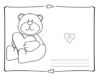 Valentine Keepsake and Coloring Book