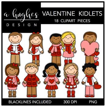Valentine Kidlets Clipart {A Hughes Design}