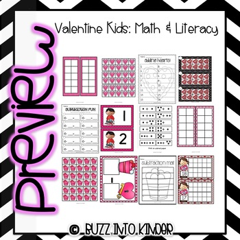 Valentine Kids -- A Common Core Valentines Unit!