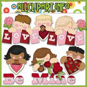 Valentine Kids Clip Art - Cheryl Seslar Clip Art