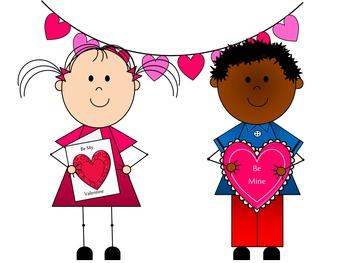 Valentine Kids Clip Art {By Busy Bee Clip Art}