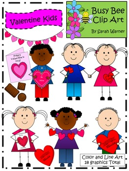 Valentine Kids Clip Art {By Busy Bee Clip Art}