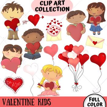 Valentine Kids Clip Art Collection