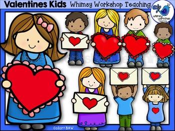 Valentine Kids Clip Art - Whimsy Workshop Teaching